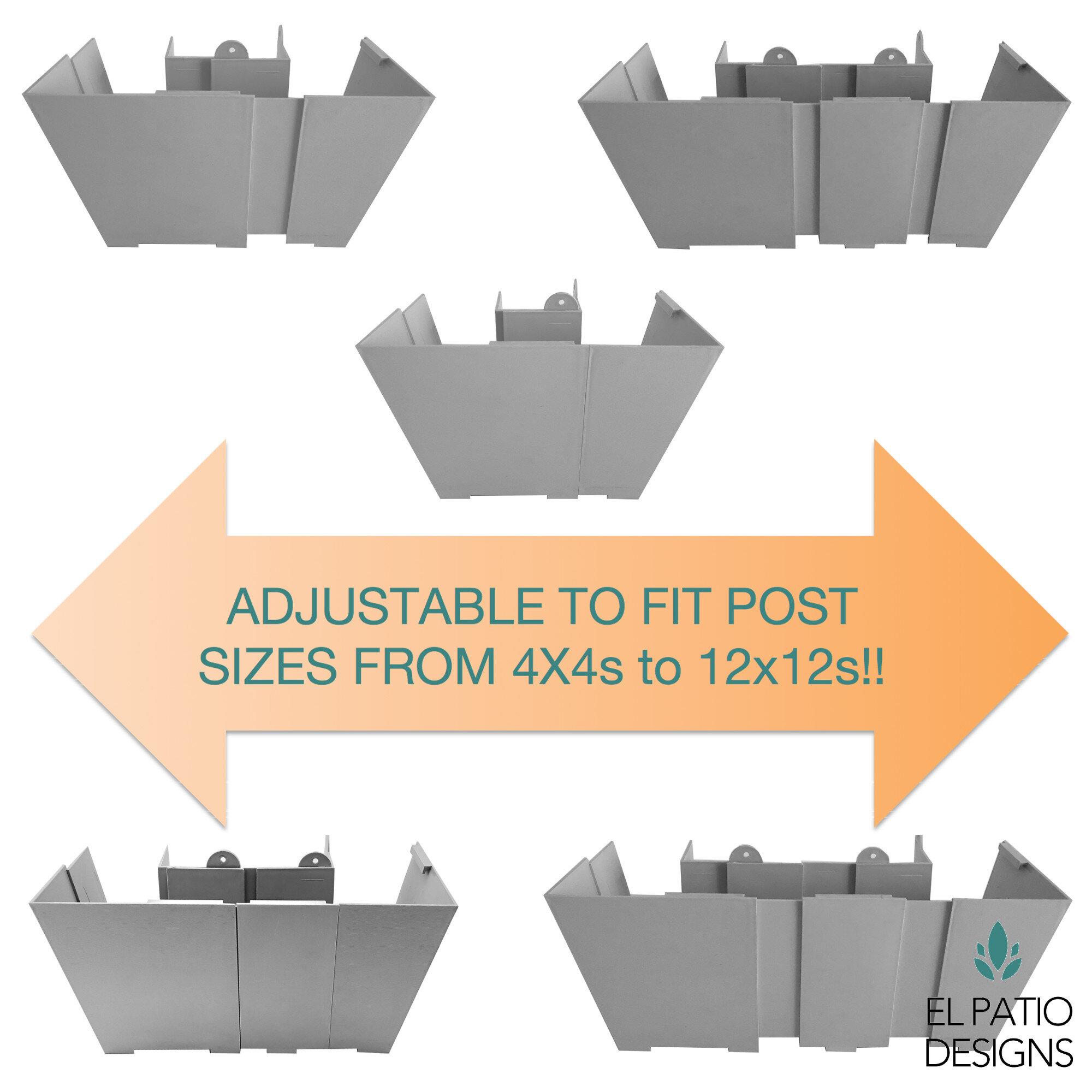 El Patio Post ...  sc 1 st  El Patio Designs & El Patio Post Planter Extensions u2013 Box of Two (2)   El Patio Designs
